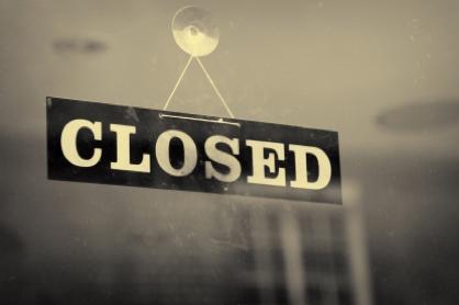 De winkels zijn gesloten op onderstaande data: